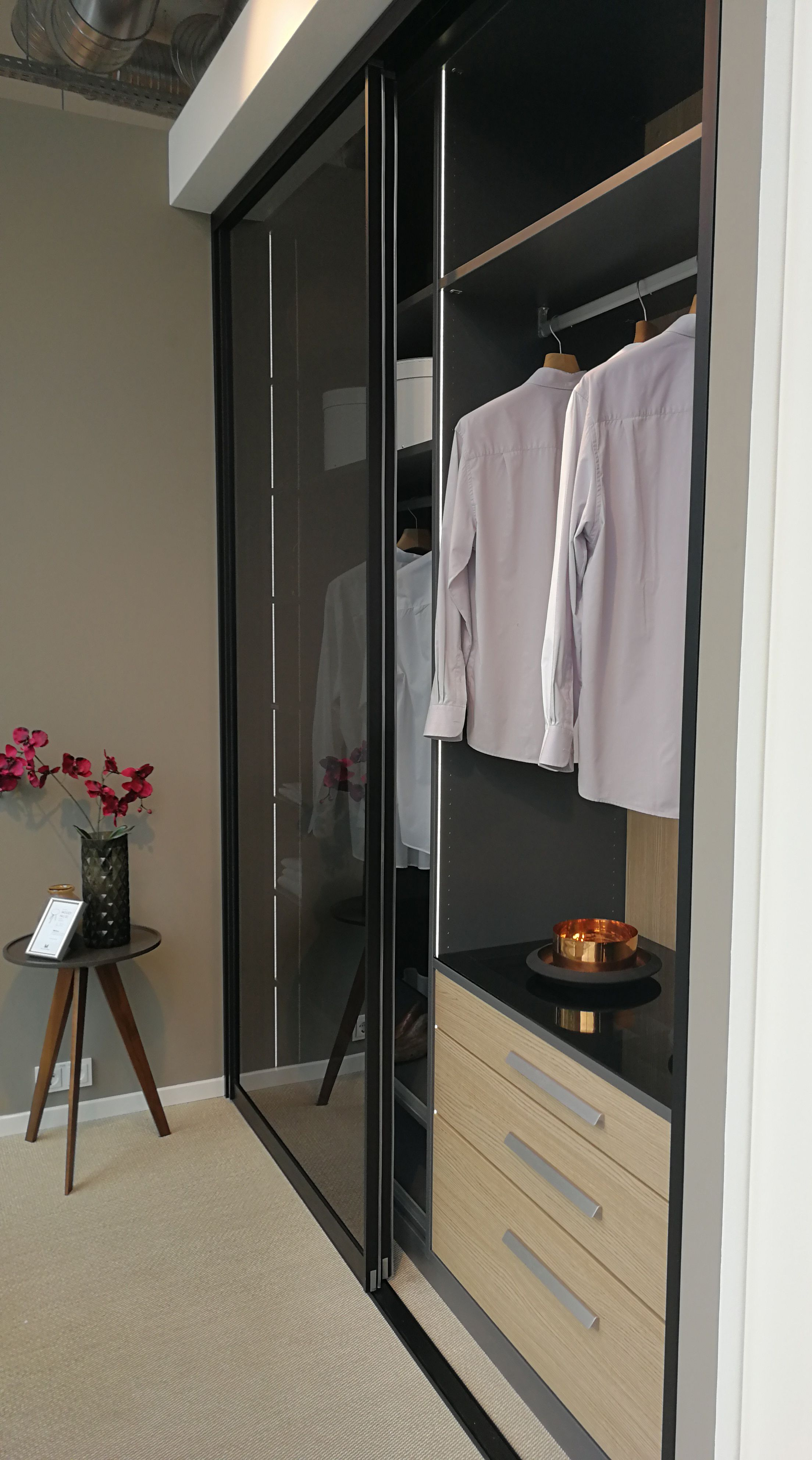 Maßgefertigter Einbauschrank mit Parsol Glastüren von CABINET.
