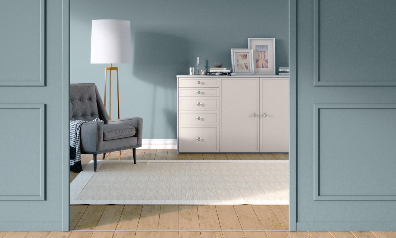 Sideboard nach Maß weiß skandinavisch mit Drehtüren von CABINET